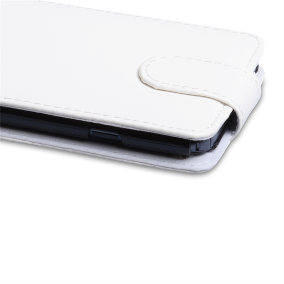 Yousave Accessories LG Optimus G Pro Leather-Effect Flip Case - White