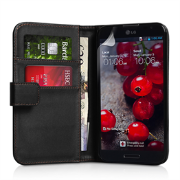 Yousave Accessories LG Optimus G Pro Leather-Effect Wallet Case - Black