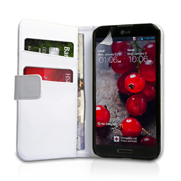 Yousave Accessories LG Optimus G Pro Leather-Effect Wallet Case - White