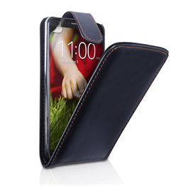 Yousave Accessories LG G2 PU Flip Black Case