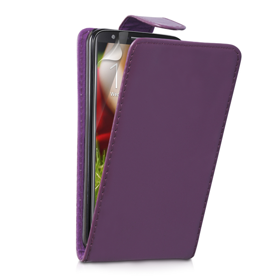 Yousave Accessories LG G2 PU Wallet Purple Case