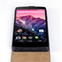 Yousave Accessories Google Nexus 5 Real Leather Flip Case - Black
