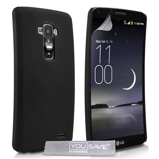 Yousave Accessories LG G Flex Hard Hybrid Case - Black