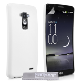 Yousave Accessories LG G Flex Hard Hybrid Case - White
