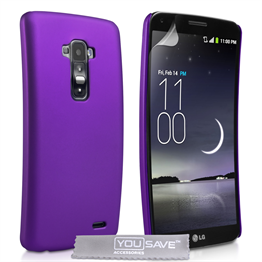 Yousave Accessories LG G Flex Hard Hybrid Case - Purple
