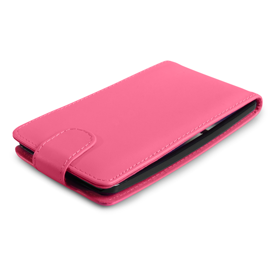 Yousave Accessories LG G Flex Leather-Effect Flip Case - Hot Pink