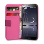 Yousave Accessories LG G Flex Leather-Effect Wallet Case - Hot Pink