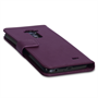 Yousave Accessories LG G Flex Leather-Effect Wallet Case - Purple