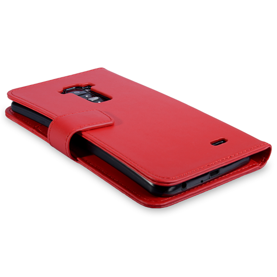 Yousave Accessories LG G Flex Leather-Effect Wallet Case - Red