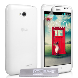 Yousave Accessories LG L70 Silicone Gel Case - Clear