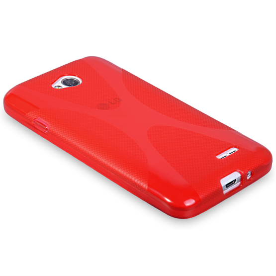 Yousave Accessories LG L70 Silicone Gel X-Line Case - Red