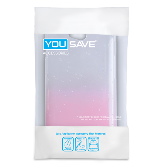 Yousave Accessories LG L70 Raindrop Hard Case - Baby Pink-Clear