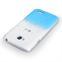 Yousave Accessories LG L70 Raindrop Hard Case - Blue-Clear