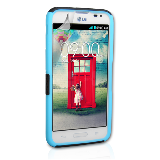 Yousave Accessories LG L70 Mesh Combo Blue Case