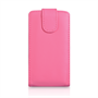 Yousave Accessories LG L70 Leather-Effect Flip Case - Hot Pink