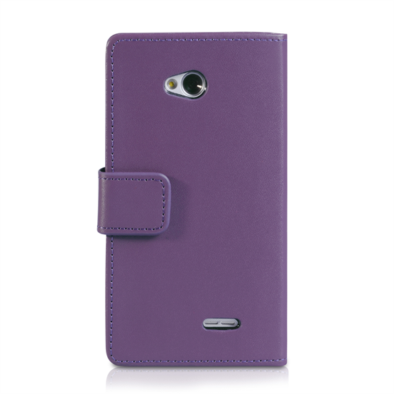 Yousave Accessories LG L70 Leather-Effect Wallet Case - Purple