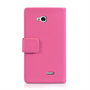 Yousave Accessories LG L90 Leather-Effect Wallet Case - Hot Pink