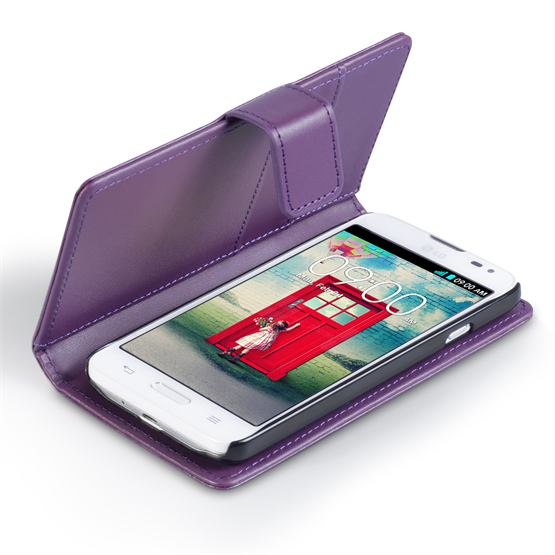 Yousave Accessories LG L90 Leather-Effect Wallet Case - Purple
