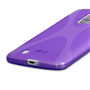Yousave Accessories LG G Pro 2 Silicone Gel X-Line Case - Purple