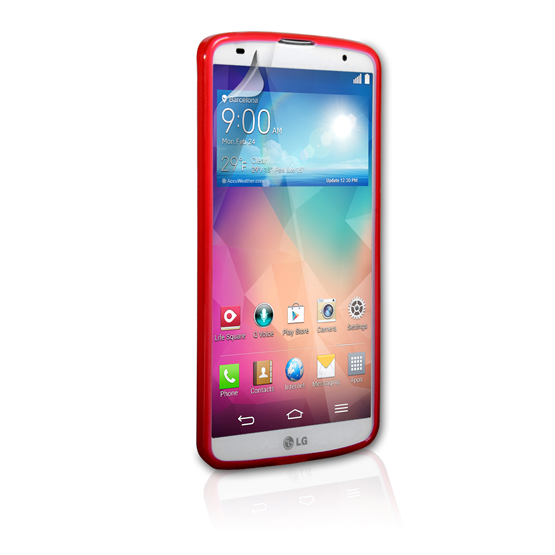 Yousave Accessories LG G Pro 2 Silicone Gel X-Line Case - Red