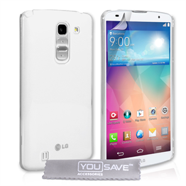 Yousave Accessories LG G Pro 2 Hard Case - Crystal Clear