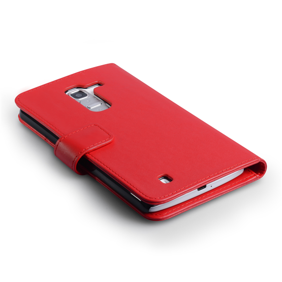 Yousave Accessories LG G Pro 2 Leather-Effect Wallet Case - Red