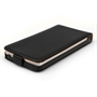 Yousave Accessories LG G3 Real Leather Flip Black Case