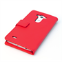 Yousave Accessories LG G3 Leather-Effect Wallet Case - Red