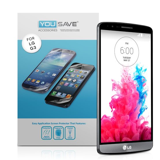Yousave Accessories LG G3 Screen Protectors - 3 Pack