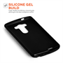 Yousave Accessories LG G4 Silicone Gel X-Line Case - Black