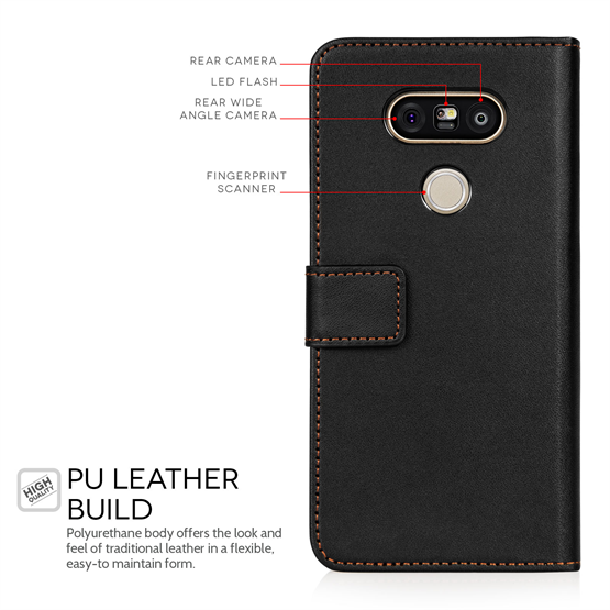 Yousave Accessories LG G5 Leather-Effect Wallet Case - Black