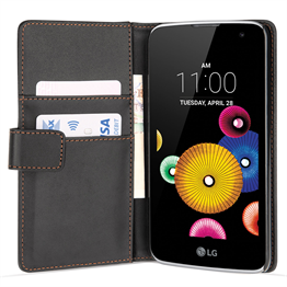 Yousave Accessories LG K4 Leather-Effect Wallet Case - Black