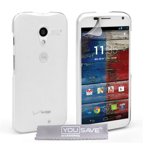 Yousave Accessories Motorola Moto X Hard Case - Crystal Clear