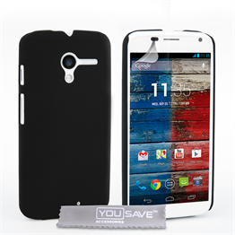 Yousave Accessories Motorola Moto X Hard Hybrid Case - Black