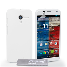 Yousave Accessories Motorola Moto X Hard Hybrid Case - White