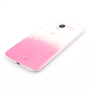 Yousave Accessories Motorola Moto X Raindrop Hard Case - Baby Pink-Clear