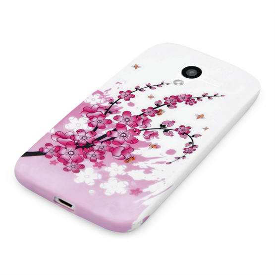 Yousave Accessories Motorola Moto X Floral Bee Silicone Gel Case