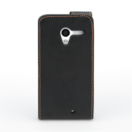 Yousave Accessories Motorola Moto X Leather-Effect Flip Case - Black