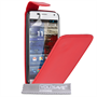 Yousave Accessories Motorola Moto X Leather-Effect Flip Case - Red