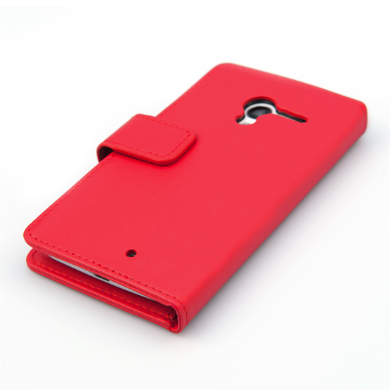 Yousave Accessories Motorola Moto X Leather-Effect Wallet Case - Red