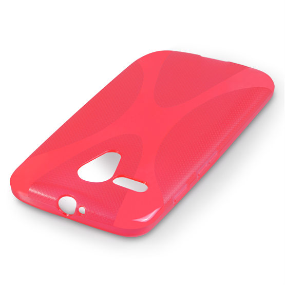 Yousave Accessories Motorola Moto G Silicone Gel X-Line Case - Red