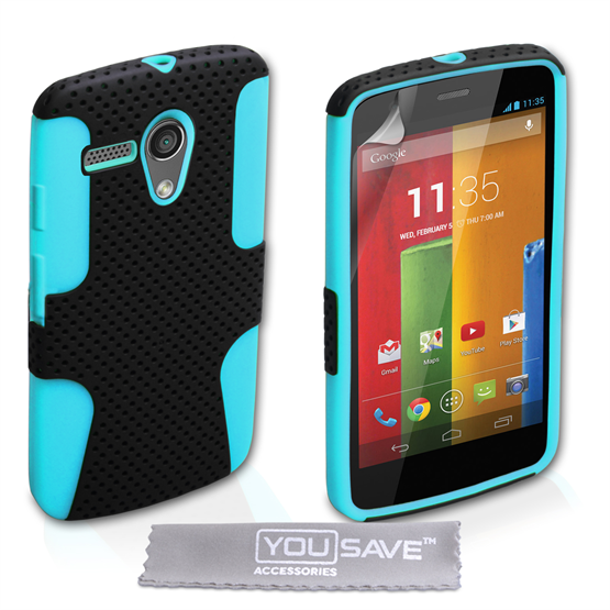 Yousave Accessories Motorola Moto G Mesh Combo Blue Case