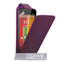 Yousave Accessories Motorola Moto G Leather-Effect Flip Case - Purple