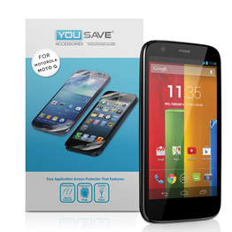 Yousave Accessories Motorola Moto G Screen Protectors X 5 Clear