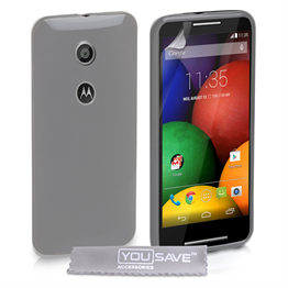 Yousave Accessories Motorola Moto E Silicone Gel Case - Clear