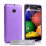 Yousave Accessories Motorola Moto E Silicone Gel X-Line Case - Purple