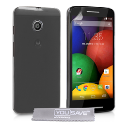 Yousave Accessories Motorola Moto E Hard Case - Crystal Clear