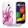 Yousave Accessories Motorola Moto E Floral Bee Silicone Gel Case