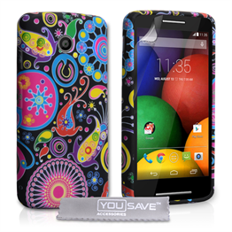Yousave Accessories Motorola Moto E Jellyfish Silicone Gel Case