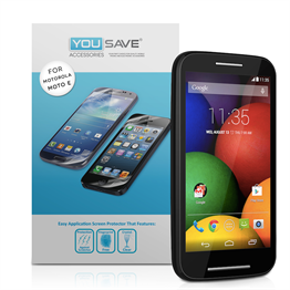 Yousave Accessories Motorola Moto E Screen Protectors X 5 - Clear